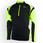 Rogelli Running Top Dillon LS Black/Yellow